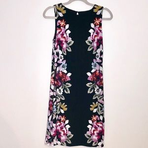 White House Black Market black and floral dress